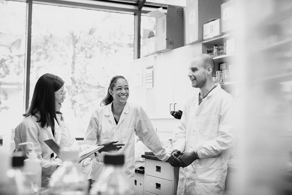 Students in the research lab
